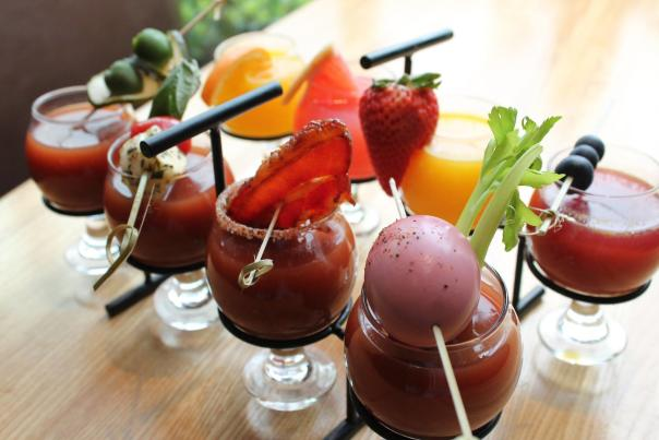 Bloody Mary and Mimosa Flights