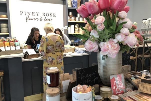 Piney Rose Floral Checkout Counter