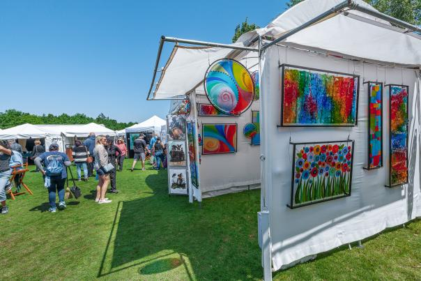 Exhibits at Arts Festival