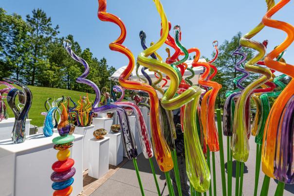 Blown Glass at Arts Festival