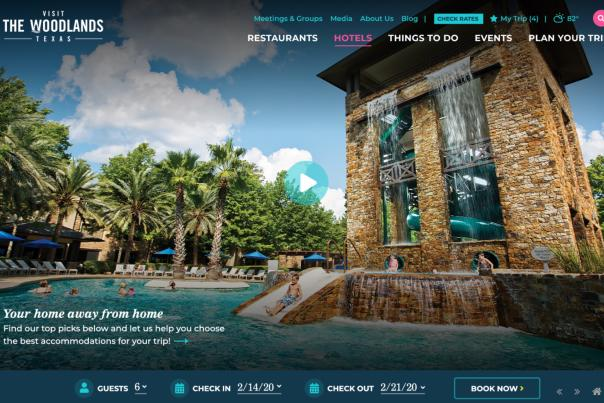 Visit The Woodlands Website Screenshot