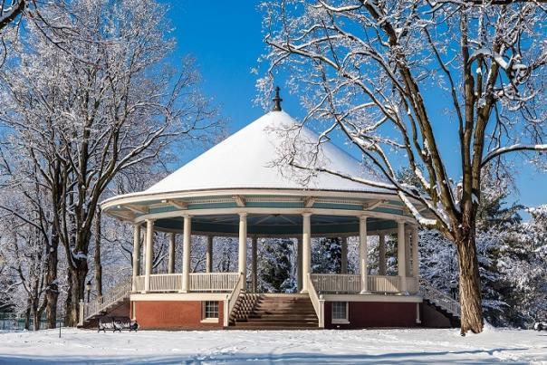 Pavilion In Winter