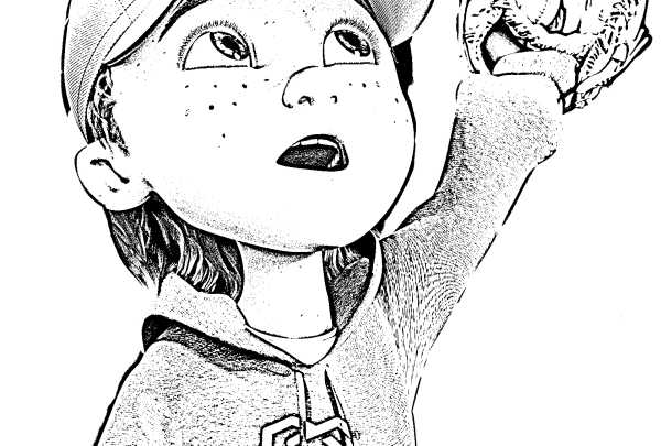 Gnarli catching a baseball coloring page