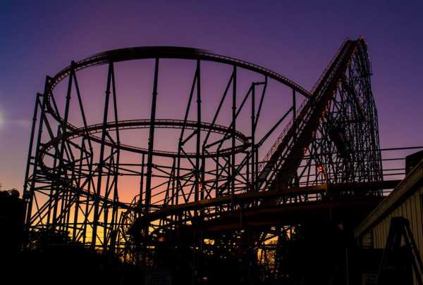 Six Flags Over Texas sunset
