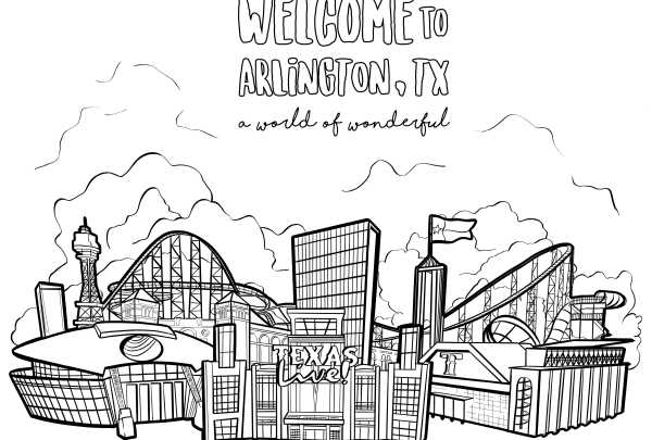 Coloring page for the World of Wonderful cityline