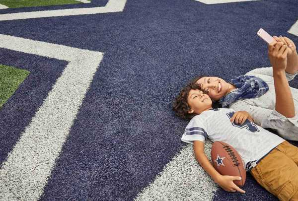Cowboys mom and son
