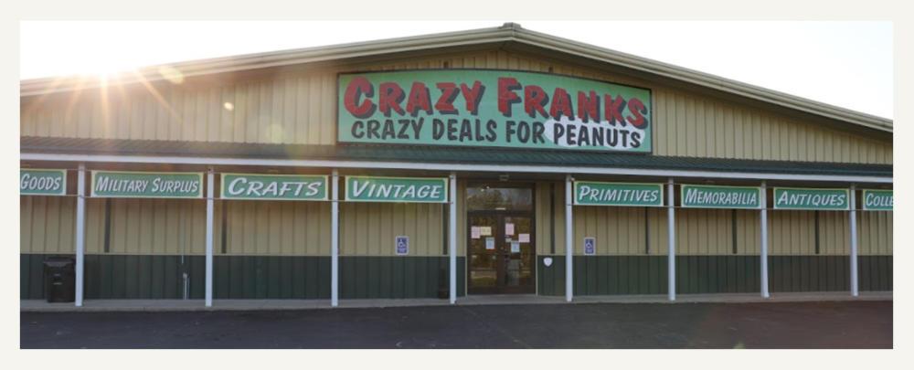 Exterior Of Crazy Franks Flea Market in Readstown, WI