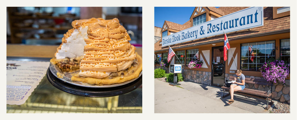 Pastry And The Store Exterior Of Norske Nook in Osseo, WI