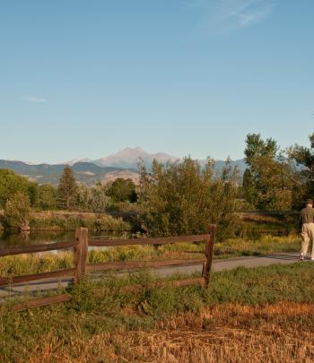 Walking in Longmont