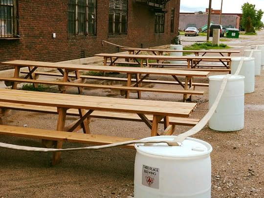 Third Place Brewing Patio in the Alley
