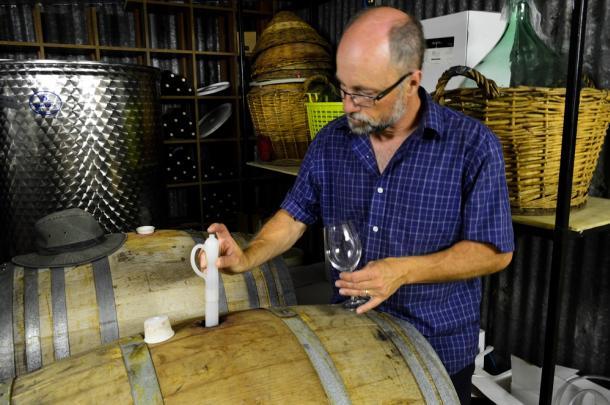 Alton Farms wine tasting