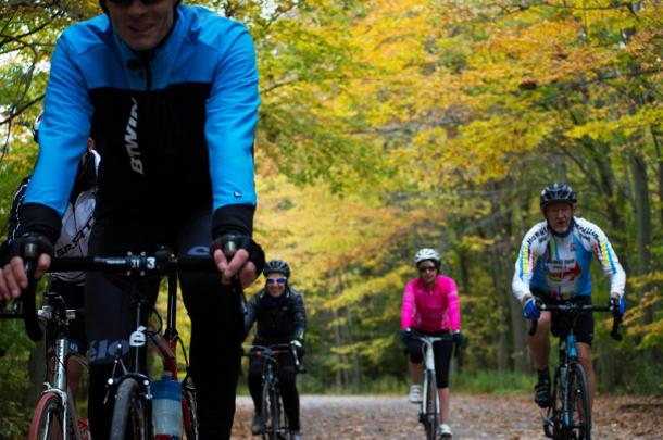Group cycling in fall