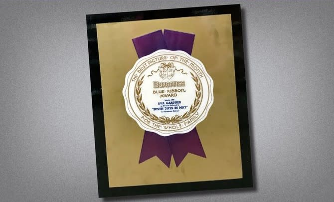 Seven Days in May - Blue Ribbon Box Office Plaque