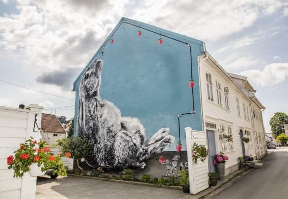 Street art i Flekkefjord
