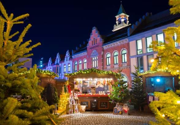 Julemarked på Torvet i Julebyen Kristiansand