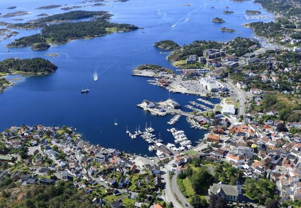 Grimstad flyfoto