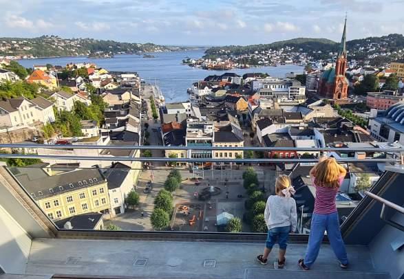 Utsikt fra Glassheisen i Arendal