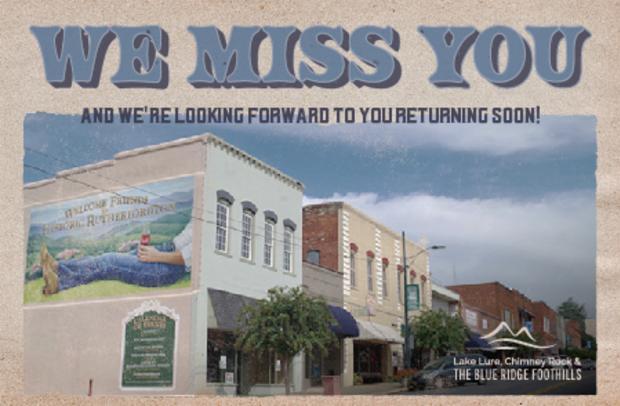 North Carolina We Miss You Postcards