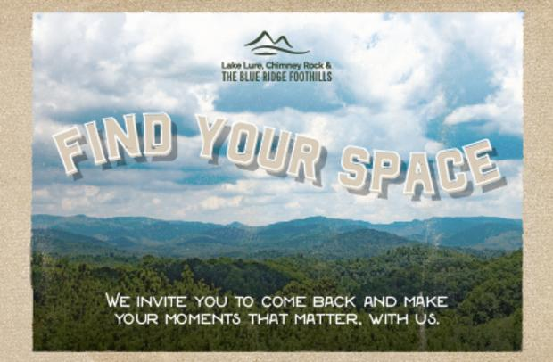 Find Your Space Postcard