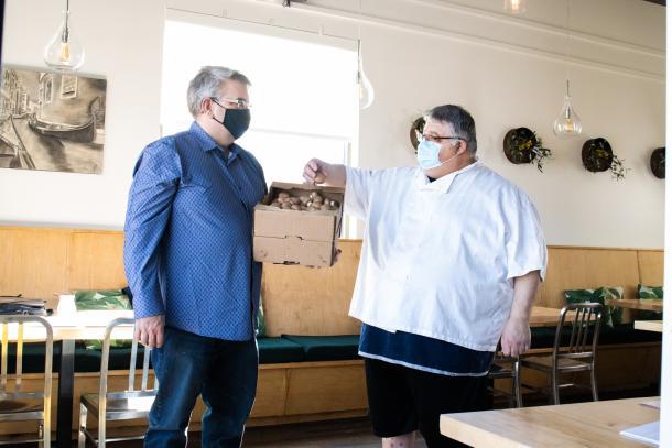 Fat Olive and Whitecrest Mushrooms partnership