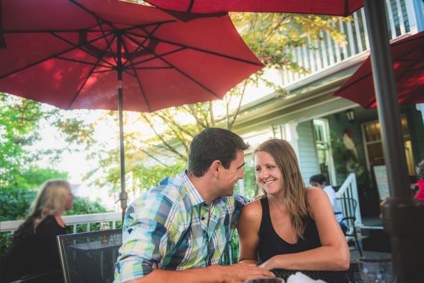 Couple on patio