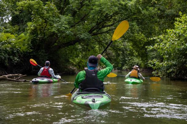 people paddling big creek
