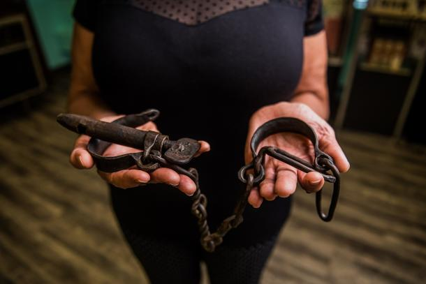 Shackles in museum