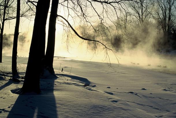 London winter trail