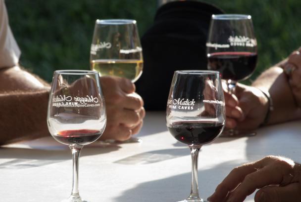 wine glasses - wine cave