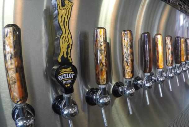 Brew tap handles at Ocelot Brewing Company