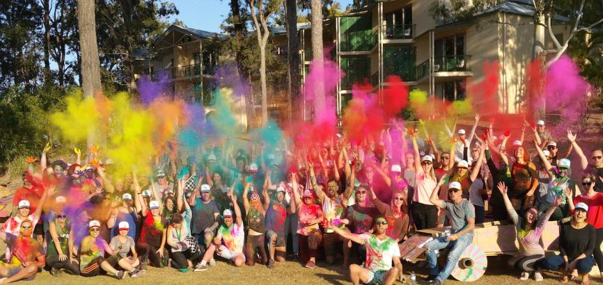 Colour run business event in Melbourne