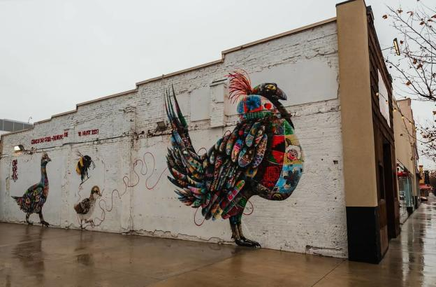 Birds and Bee Mural