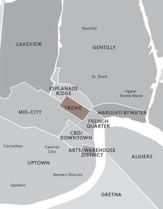 treme district new orleans map Treme Neighborhood New Orleans treme district new orleans map