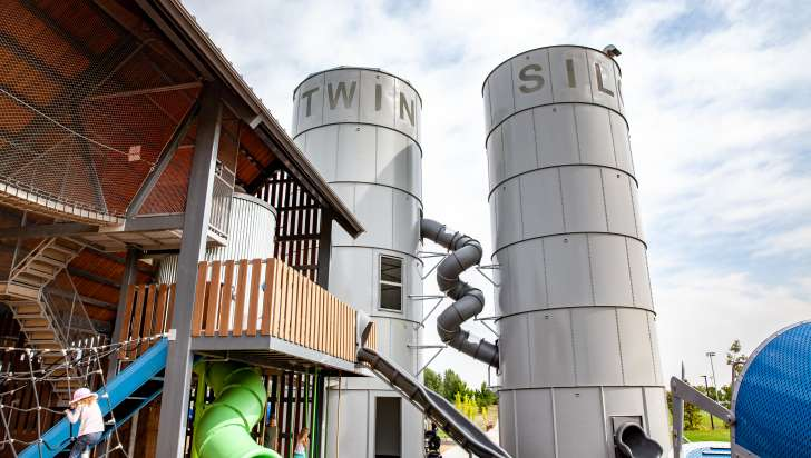 Twin Silo Park Slides