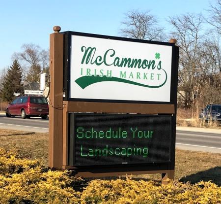 McCammon's Irish Market Sign