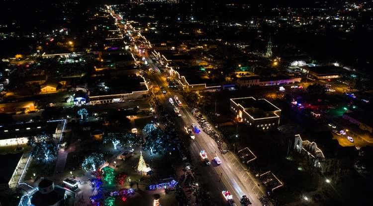 Main Street at Christmas