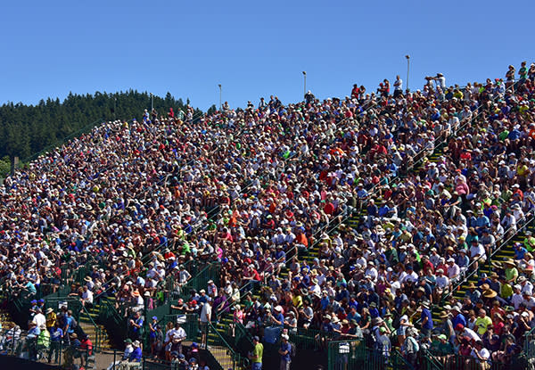 Fans at 2016 Olympic Trials in Historic Hayward Field
