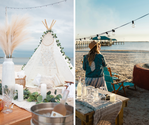 Beachfront picnic options