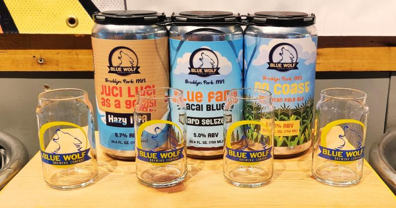 An assortment of beers from Blue Wolf