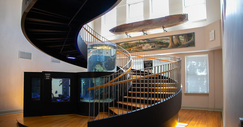 Spiral staircase in Horry County Museum