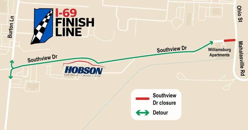 Closure of Southview Street will begin on or before Mar. 15 and last several weeks.