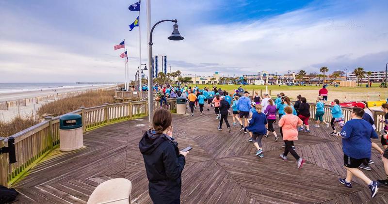 Runners on the Boardwalk, Myrtle Beach Marathon, Visit Myrtle Beach, SC