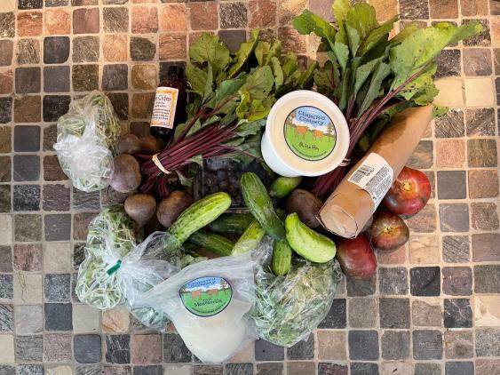 Goods from the Carrboro Farmers Market