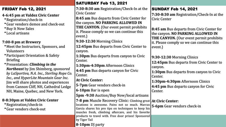 a schedule for a festival
