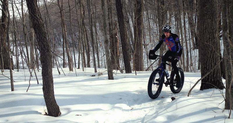 Fat tire biking in the snow