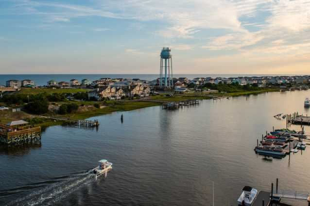 View of Holden Beach from the bridge