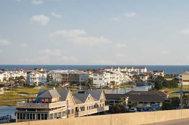 View of Ocean Isle Beach from the Ocean Isle Beach Bridge
