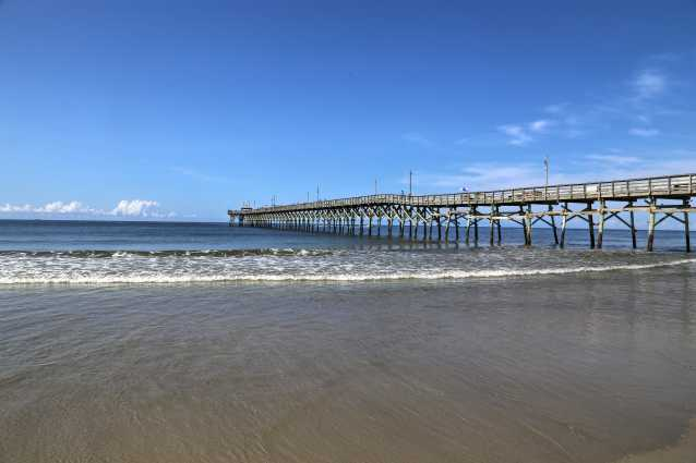 Ocean Crest Fishing Pier on Oak Island