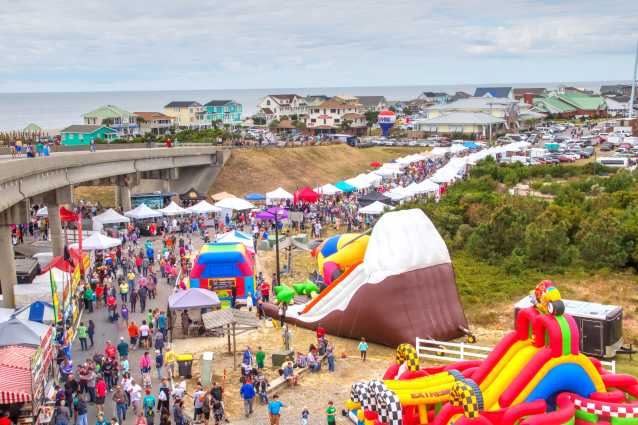 Festival by the Sea at Holden Beach viewed from the Holden Beach Bridge