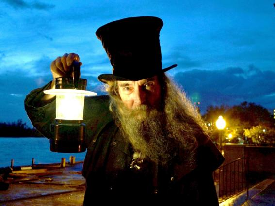 A tour guide for Ghost Walk of Old Wilmington
